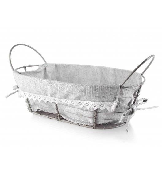 MONDEX Koszyk na pieczywo 25 x 15 x 8 cm / szary / metalowy