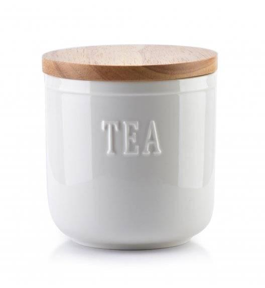AFFEKDESIGN MODERN LIFE Pojemnik na herbatę ø 11 cm / porcelana + drewno