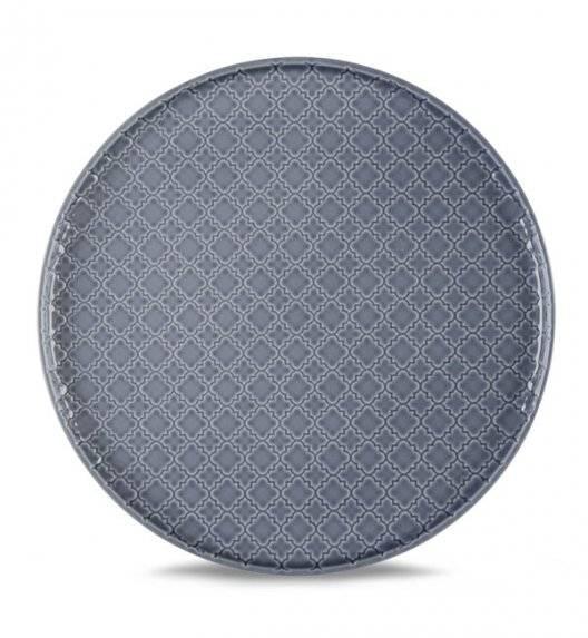 LUBIANA MARRAKESZ K9 Talerz obiadowy 26 cm / szaro - niebieski / porcelana