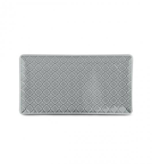 LUBIANA MARRAKESZ K1 Talerz serwingowy / półmis 24 x 13 cm / szary / porcelana
