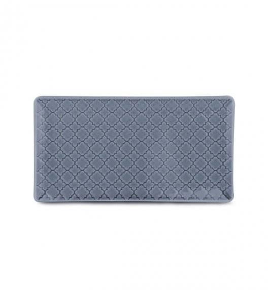 LUBIANA MARRAKESZ K9 Talerz serwingowy / półmis 24 x 13 cm / szaro - niebieski / porcelana