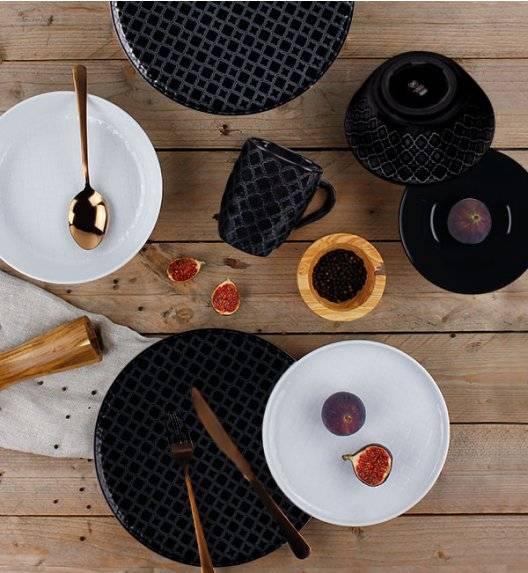 LUBIANA MARRAKESZ Komplet obiadowy 18 os 90 el / czarno - biały /  porcelana