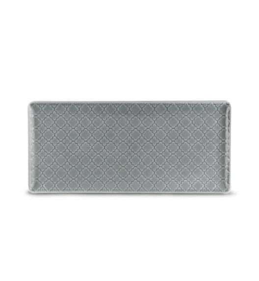 LUBIANA MARRAKESZ K1 Talerz serwingowy / półmis 29 x 13 cm / szary / porcelana