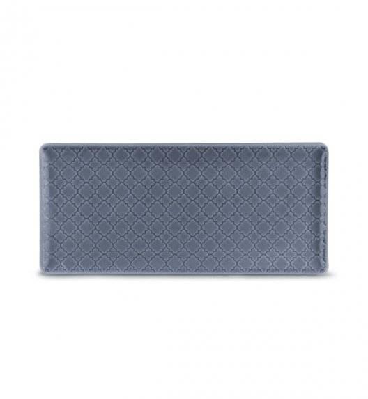 LUBIANA MARRAKESZ K9 Talerz serwingowy / półmis 29 x 13 cm / szaro - niebieski / porcelana