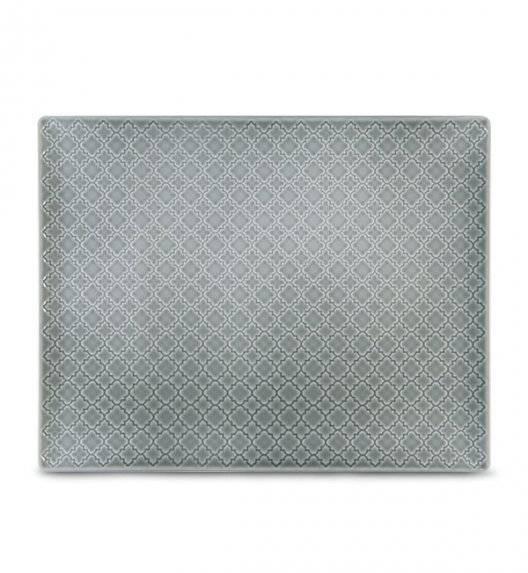 LUBIANA MARRAKESZ K1 Talerz serwingowy / półmis 31 x 24 cm / szary / porcelana