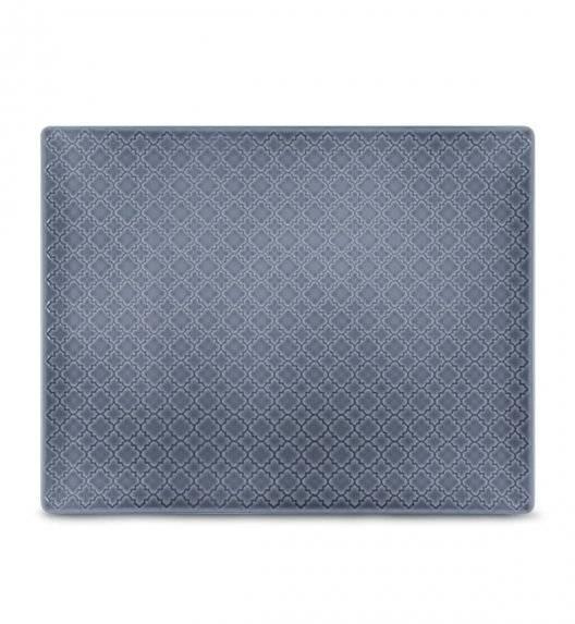 LUBIANA MARRAKESZ K9 Talerz serwingowy / półmis 31 x 24 cm / szaro - niebieski / porcelana