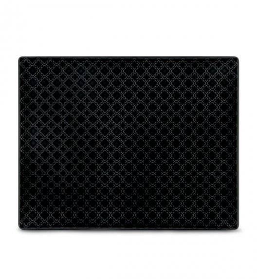 LUBIANA MARRAKESZ K8 Talerz serwingowy / półmis 31 x 24 cm / czarny / porcelana