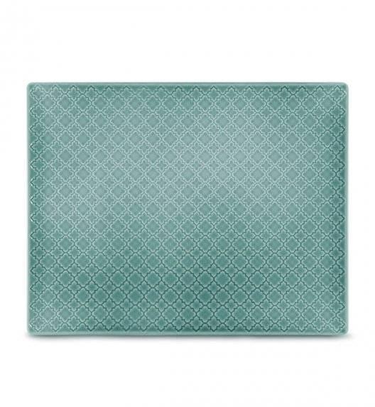 LUBIANA MARRAKESZ K5 Talerz serwingowy / półmis 31 x 24 cm / morski / porcelana