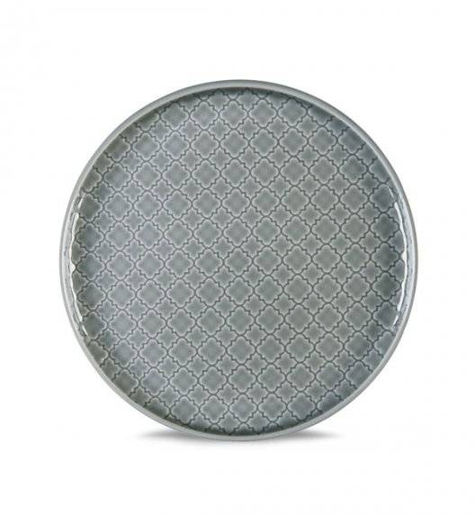 LUBIANA MARRAKESZ K1 Talerz deserowy 20 cm / szary / porcelana