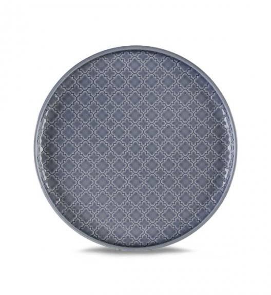 LUBIANA MARRAKESZ K9 Talerz deserowy 20 cm / szaro - niebieski / porcelana