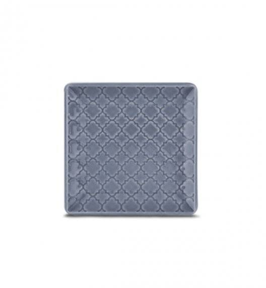 LUBIANA MARRAKESZ K9 Talerz płytki 11 cm / szaro - niebieski / porcelana