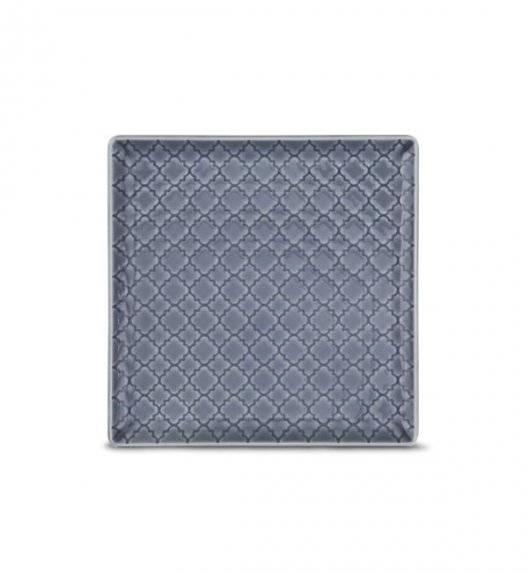 LUBIANA MARRAKESZ K9 Talerz deserowy 17 cm / szaro - niebieski / porcelana