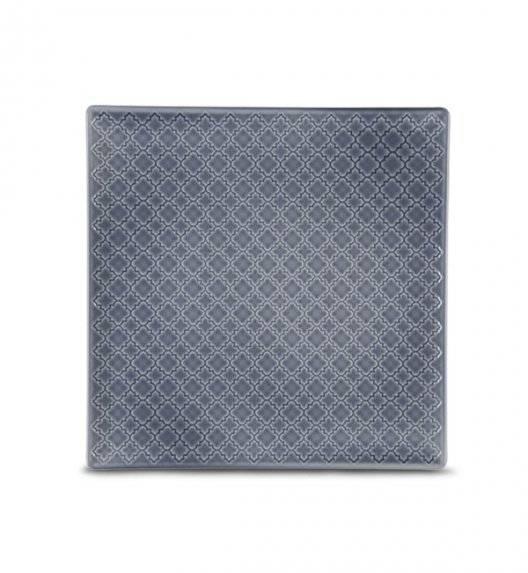 LUBIANA MARRAKESZ K9 Talerz deserowy 20,5 cm / szaro - niebieski / porcelana