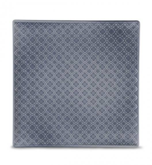 LUBIANA MARRAKESZ K9 Talerz obiadowy 25,5 cm / szaro - niebieski / porcelana