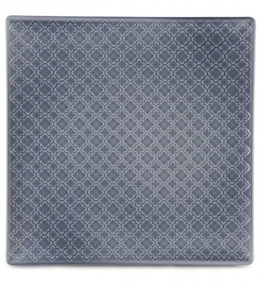 LUBIANA MARRAKESZ K9 Talerz płytki 30,5 cm / szaro - niebieski / porcelana