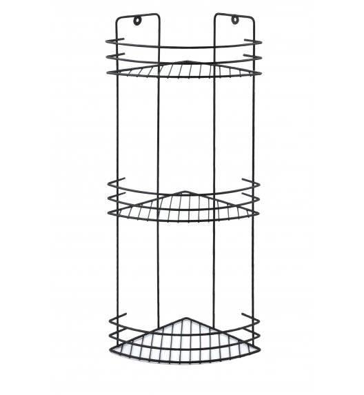 BATHLAB CARL BLACK Półka łazienkowa wisząca / 3 poziomy / metal
