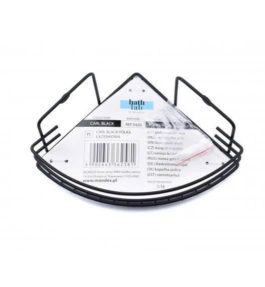 BATHLAB CARL BLACK Półka łazienkowa wisząca / metal