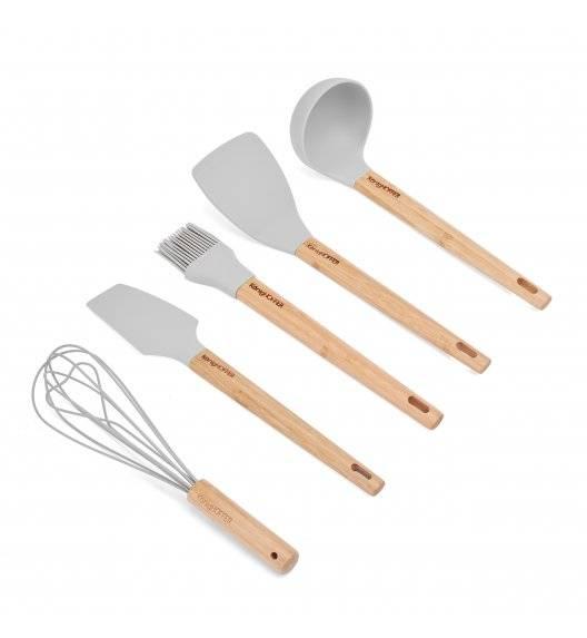 KONIGHOFFER GLER SILICO Zestaw przyborów kuchennych 5 el z bambusową rączką
