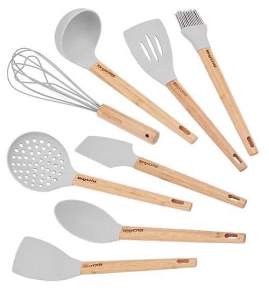 KONIGHOFFER GLER SILICO Zestaw przyborów kuchennych 8 el z bambusową rączką