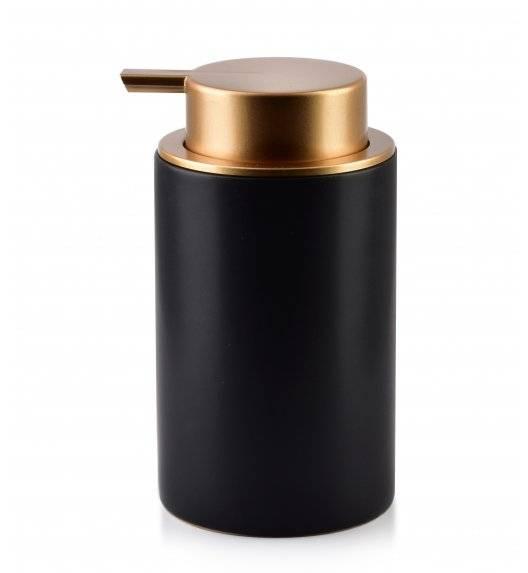 BATHLAB DAMIEN Dozownik na mydło w płynie 320 ml / czarno - złoty
