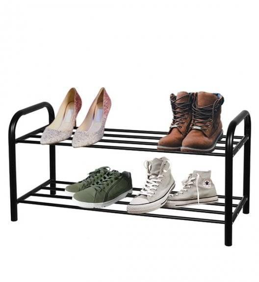 BRUNBESTE Metalowa półka na buty 2-poziomowa / czarna