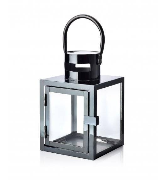 MONDEX LEONE BLACK Lampion 12 x 12 x 19 cm / metal + szkło