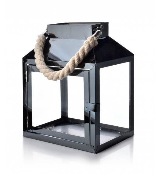 MONDEX LEOARDO BLACK Lampion 20 x 13,5 x 24,5 cm / metal + szkło