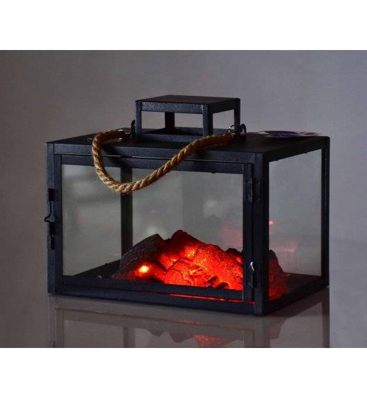 MONDEX KANVAR Lampion kominek LED 25,5 x 15,5 x 20,5 cm / metal
