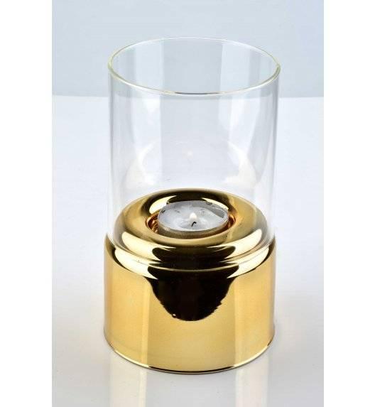 MONDEX RITA Świecznik ze szklanym koszem 9 x 16 cm