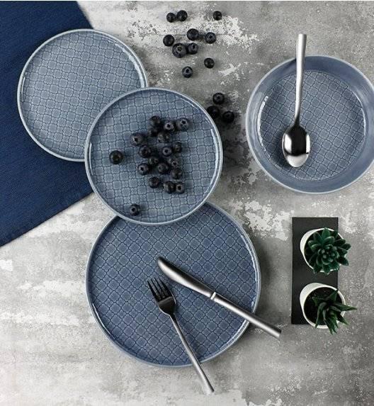 LUBIANA MARRAKESZ K9 Serwis obiadowy 18 os 54 el / szaro - niebieski / okrągły / porcelana
