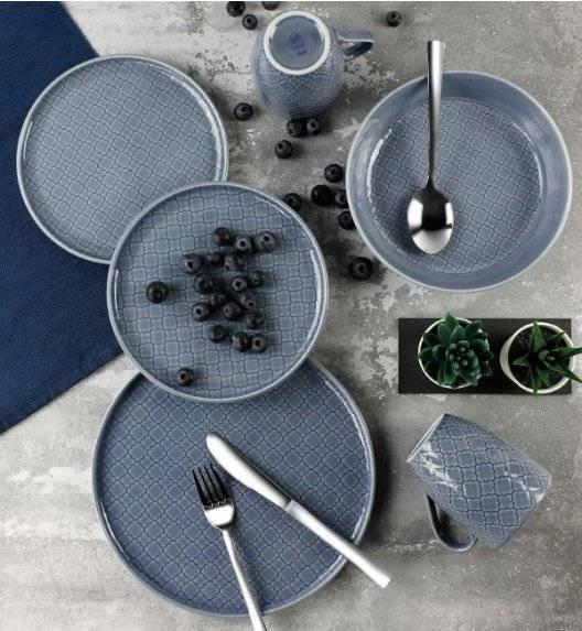 LUBIANA MARRAKESZ K9 Serwis obiadowy 18 os 72 el / szaro - niebieski / okrągły / porcelana