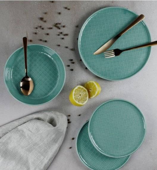 LUBIANA MARRAKESZ K5 Serwis obiadowy 6 os 18 el / morski / okrągły / porcelana