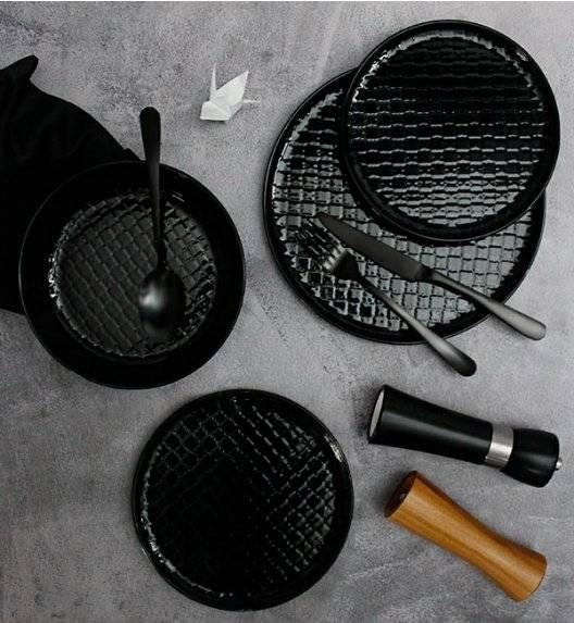 LUBIANA MARRAKESZ K8 Serwis obiadowy 24 os 72 el / czarny / okrągły / porcelana