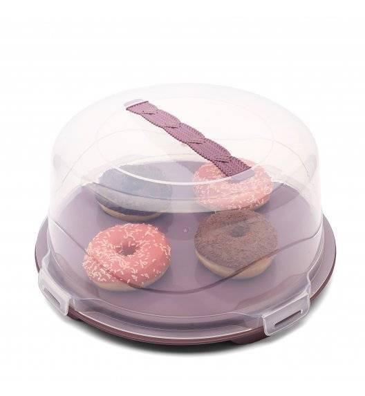 TADAR Okrągły pojemnik na ciasto z pokrywą 35 x 16 cm / MIX KOLORÓW