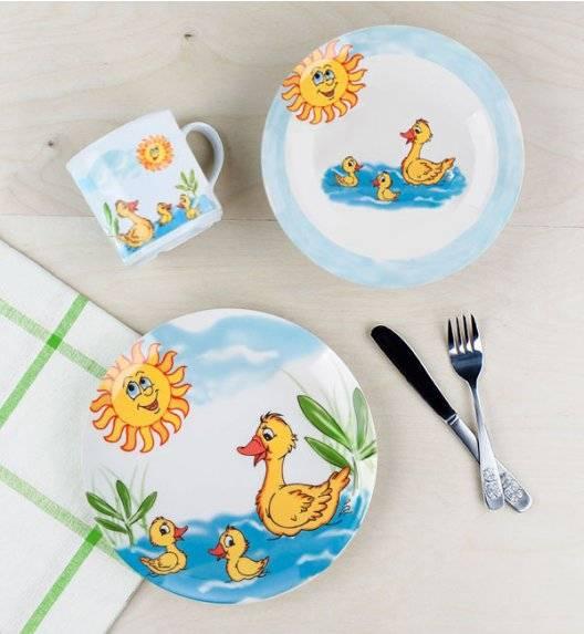 LUBIANA KACZKI Komplet obiadowy dla dzieci 3 el / porcelana