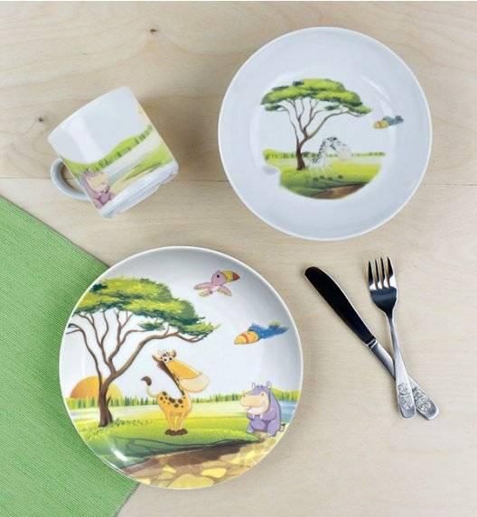 LUBIANA SAFARI Komplet obiadowy dla dzieci 3 el / porcelana