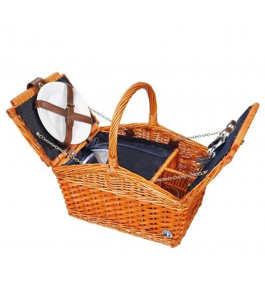 CILIO SALERNO Kosz piknikowy dla 2 osób z wyposażeniem / wiklina