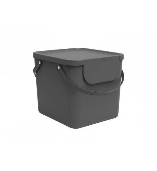 ROTHO ALBULA  Kosz z pokrywą do segregacji odpadów 40 L / szary