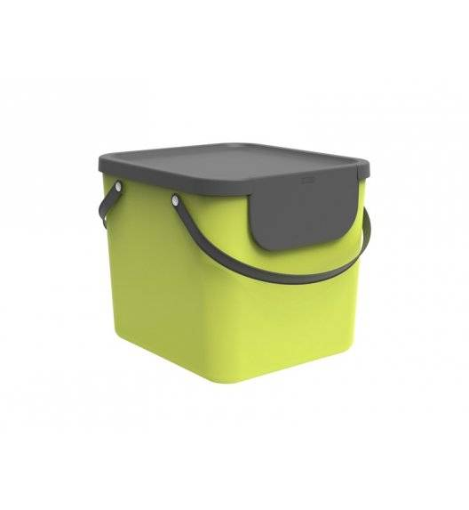 ROTHO ALBULA  Kosz z pokrywą do segregacji odpadów 40 L / limonkowy