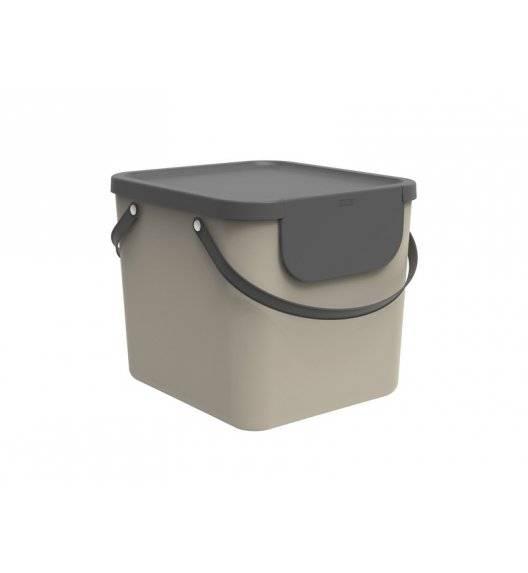 ROTHO ALBULA  Kosz z pokrywą do segregacji odpadów 40 L / capuccino