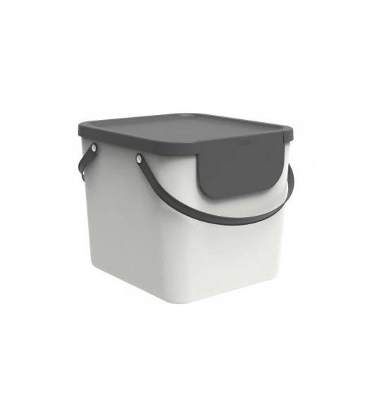 ROTHO ALBULA  Kosz z pokrywą do segregacji odpadów 40 L / biały