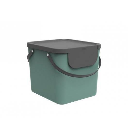 ROTHO ALBULA  Kosz z pokrywą do segregacji odpadów 40 L / zielony