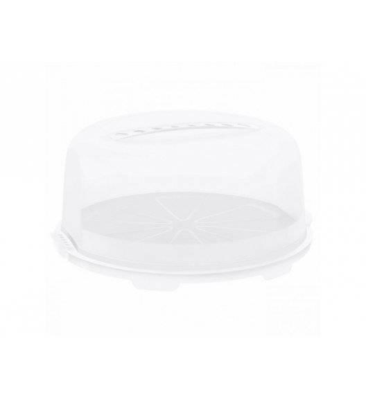 ROTHO FRESH Okrągły pojemnik na ciasto z pokrywą 35,5 x 16,5 cm / biały