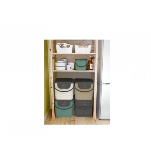ROTHO ALBULA Komplet 4 koszy 40 l / biały, zielony, cappucino, szary