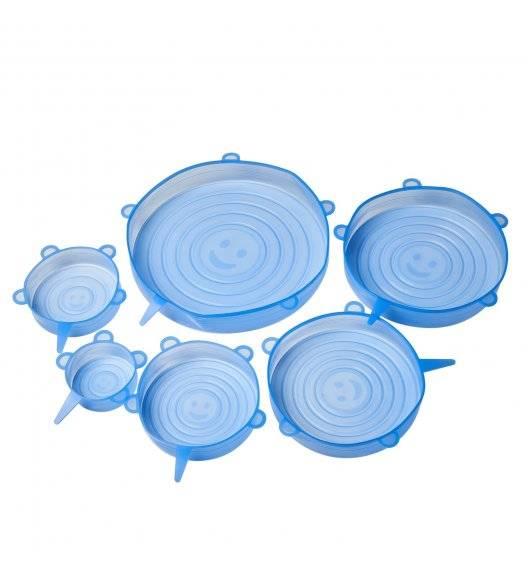 TADAR SILICO Zestaw 6 silikonowych pokrywek / niebieskie