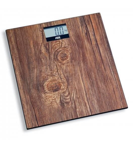 ADE HOLLY Waga łazienkowa 30 x 30 cm / drewniany wzór