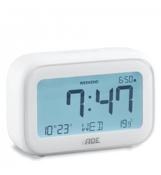 ADE Budzik z kalendarzem i termometrem / 11 x 4 x 7 cm