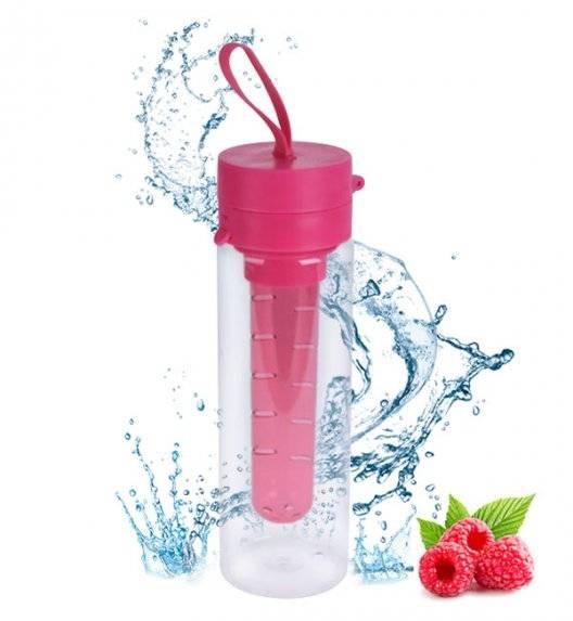 EXCELLENT HOUSEWARE Butelka 750 ml na napoje z wkładem na owoce / różowa