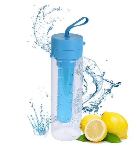 EXCELLENT HOUSEWARE Butelka 750 ml na napoje z wkładem na owoce / niebieska