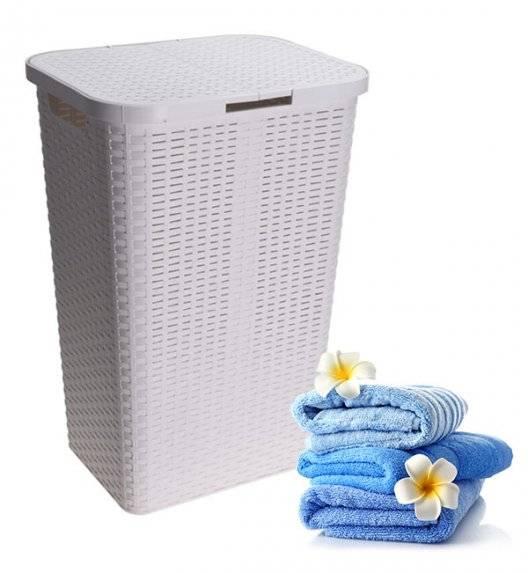 EXCELLENT HOUSEWARE Kosz na pranie 42 x 33 x 62 cm / biały